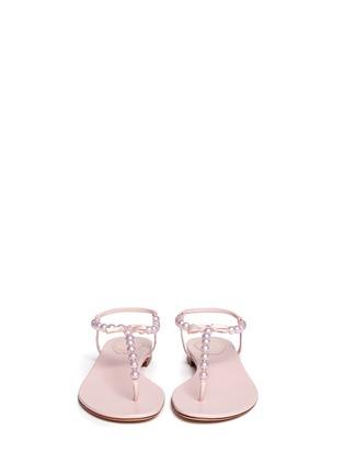 Figure View - Click To Enlarge - René Caovilla - Pearl T-strap flat sandals