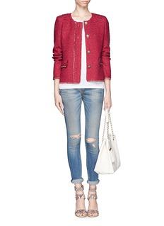 ST. JOHNWool-blend ribbon knit jacket