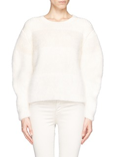 CHLOÉ Mohair Angora colourblock sweater