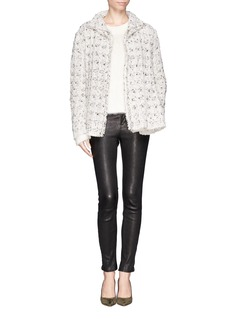 LANVINDouble layer placket tweed jacket
