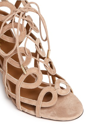 Detail View - Click To Enlarge - Aquazzura - X Olivia Palermo suede gladiator sandals
