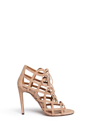 Main View - Click To Enlarge - Aquazzura - X Olivia Palermo suede gladiator sandals