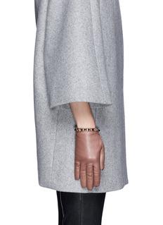 VALENTINO'Rockstud' short leather gloves
