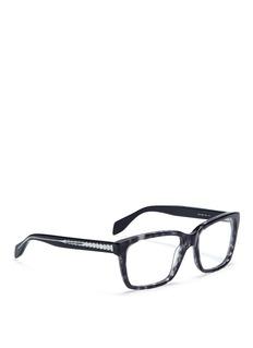 ALEXANDER MCQUEENSkull stud square optical glasses