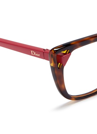 Detail View - Click To Enlarge - Dior - Cut-out corner cat eye optical glasses