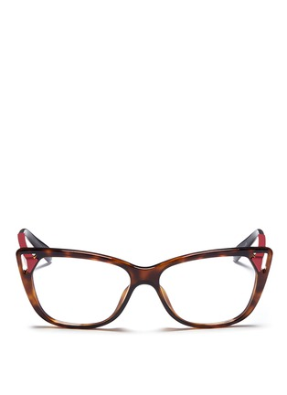 Main View - Click To Enlarge - Dior - Cut-out corner cat eye optical glasses
