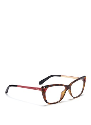 Figure View - Click To Enlarge - Dior - Cut-out corner cat eye optical glasses