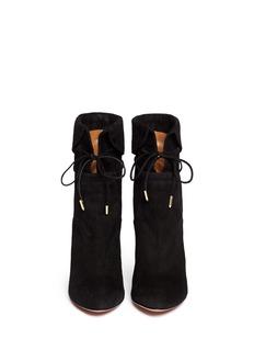 AQUAZZURA'Olivia' suede fold cuff boots