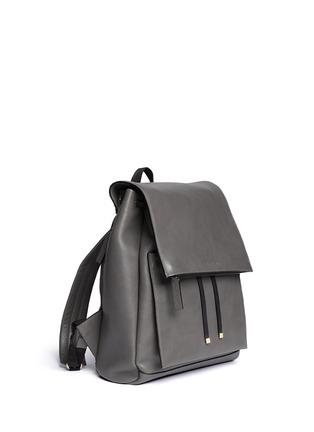 Detail View - Click To Enlarge - Marni - Top flap drawstring leather backpack