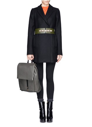 - Marni - Top flap drawstring leather backpack