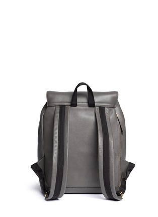 Back View - Click To Enlarge - Marni - Top flap drawstring leather backpack