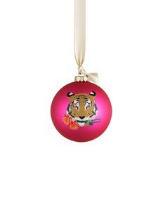KATE BARNETTTiger glass bauble Christmas ornament