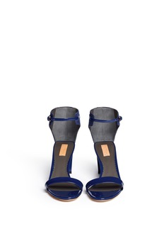 REED KRAKOFF 'Atlas' suede and patent leather sandals