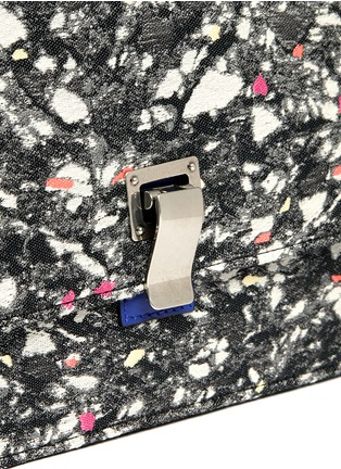 Detail View - Click To Enlarge - Proenza Schouler - Slate print small lunch bag