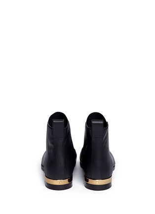 Back View - Click To Enlarge - Chloé - Metal plate heel leather Chelsea boots