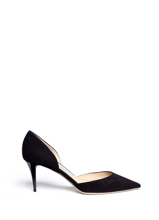 Main View - Click To Enlarge - Jimmy Choo - 'Mariella' suede d'Orsay pumps