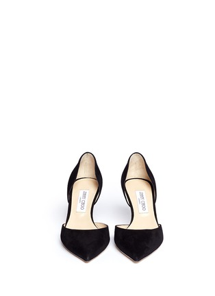 Figure View - Click To Enlarge - Jimmy Choo - 'Mariella' suede d'Orsay pumps