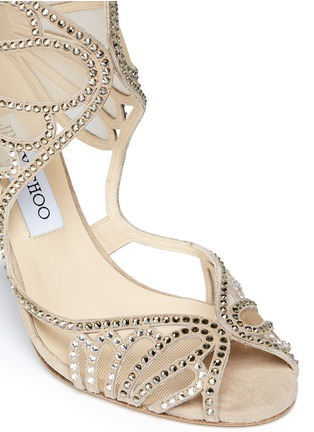 Detail View - Click To Enlarge - Jimmy Choo - 'Kole' crystal mesh sandals