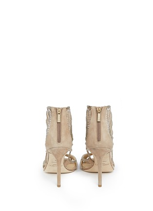 Back View - Click To Enlarge - Jimmy Choo - 'Kole' crystal mesh sandals