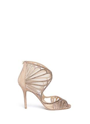 Main View - Click To Enlarge - Jimmy Choo - 'Kole' crystal mesh sandals