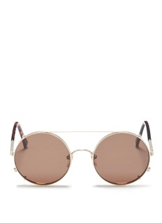 Sunday Somewhere 'Valentine' clip-on wire rim round sunglasses