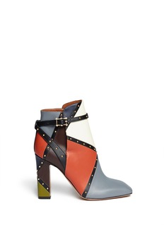 VALENTINO Italian Pop stud border leather ankle boots