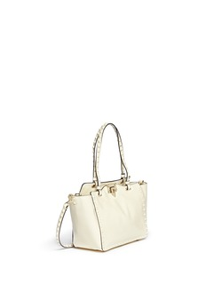 VALENTINO 'Rockstud' mini patent leather tote