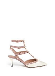 VALENTINO'Rockstud' caged patent leather pumps