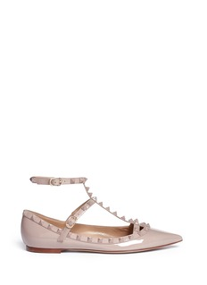 VALENTINO 'Punkouture Rockstud' caged patent leather flats