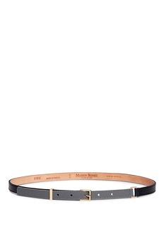 MAISON BOINETBi-colour leather skinny belt