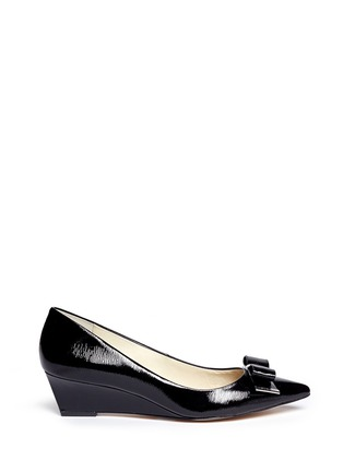 Main View - Click To Enlarge - Michael Kors - Kiera patent leather wedge pumps