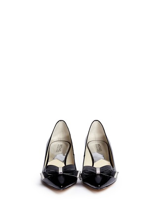 Figure View - Click To Enlarge - Michael Kors - Kiera patent leather wedge pumps