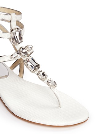 Detail View - Click To Enlarge - Michael Kors - Jayden' lizard embossed leather sandals