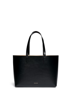 MANSUR GAVRIELSmall contrast lining leather tote
