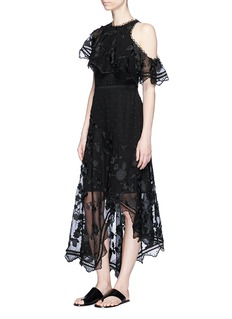 Zimmermann'Mercer Bird Floating' embroidered silk dress