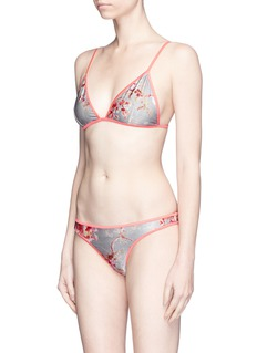 Zimmermann 'Mercer' reversible floral triangle bikini set