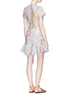 Zimmermann 'Mercer Flutter' cutout back floral print dress
