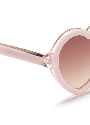 Detail View - Click To Enlarge - Sons+Daughters Eyewear - 'Lola' kids acetate heart sunglasses