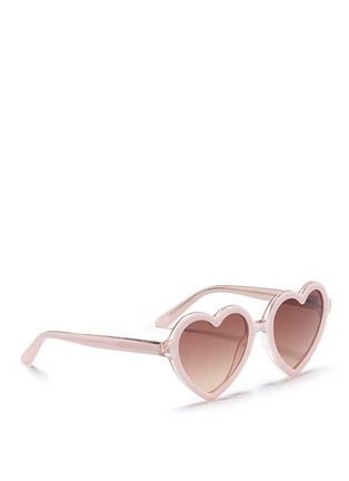 Figure View - Click To Enlarge - Sons+Daughters Eyewear - 'Lola' kids acetate heart sunglasses