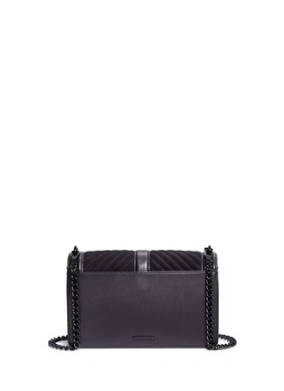 Detail View - Click To Enlarge - Rebecca Minkoff - 'Love' quilted suede flap leather crossbody bag