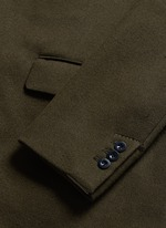 Shearling underlay wool military coat