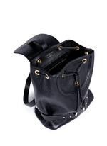 Mini pebbled leather backpack