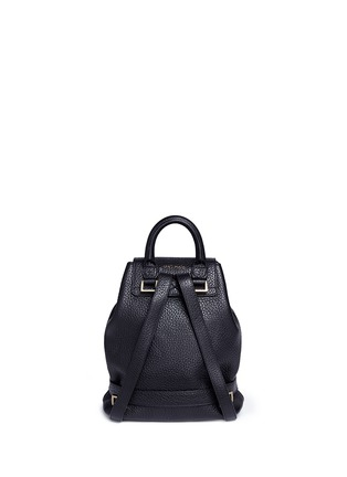 Back View - Click To Enlarge - Meli Melo - Mini pebbled leather backpack