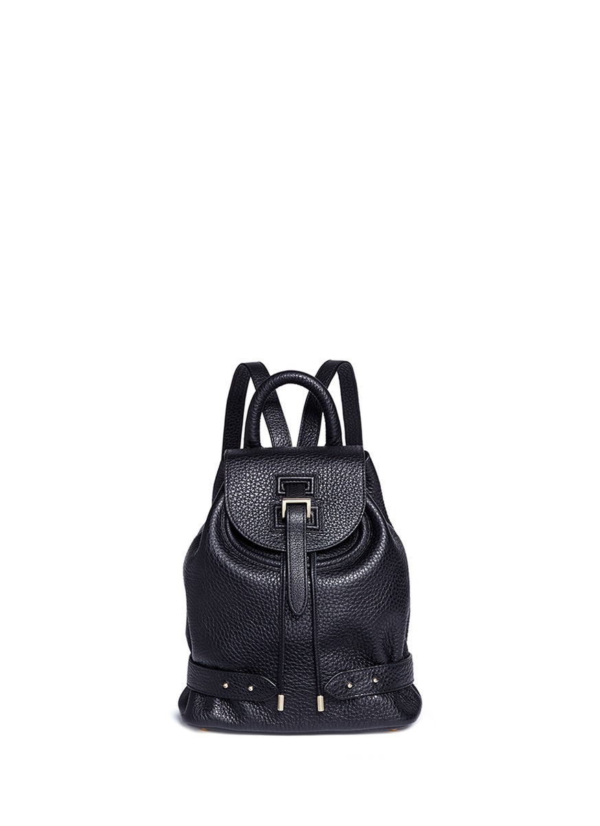 Mini pebbled leather backpack by Meli Melo