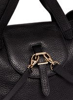 'Thela' medium pebbled leather trapeze tote