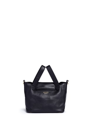 Back View - Click To Enlarge - Meli Melo - 'Thela' mini pebbled leather trapeze tote