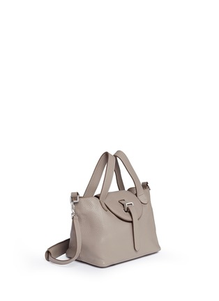 Front View - Click To Enlarge - Meli Melo - 'Thela' mini pebbled leather trapeze tote