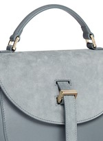 'Ortensia' suede flap leather saddle bag