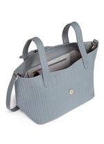 'Thela' medium woven effect leather trapeze tote