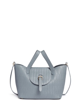 Main View - Click To Enlarge - Meli Melo - 'Thela' medium woven effect leather trapeze tote